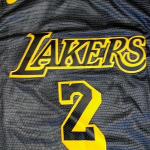 best loved dea9a 39e23 Lonzo Ball Los Angeles Lakers Black Mamba Jersey NWT